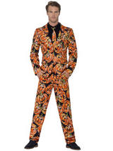 Adult Mens Stand Out Pumpkin Suit Costume