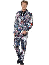 Adult Mens Stand Out Zombie Suit Costume