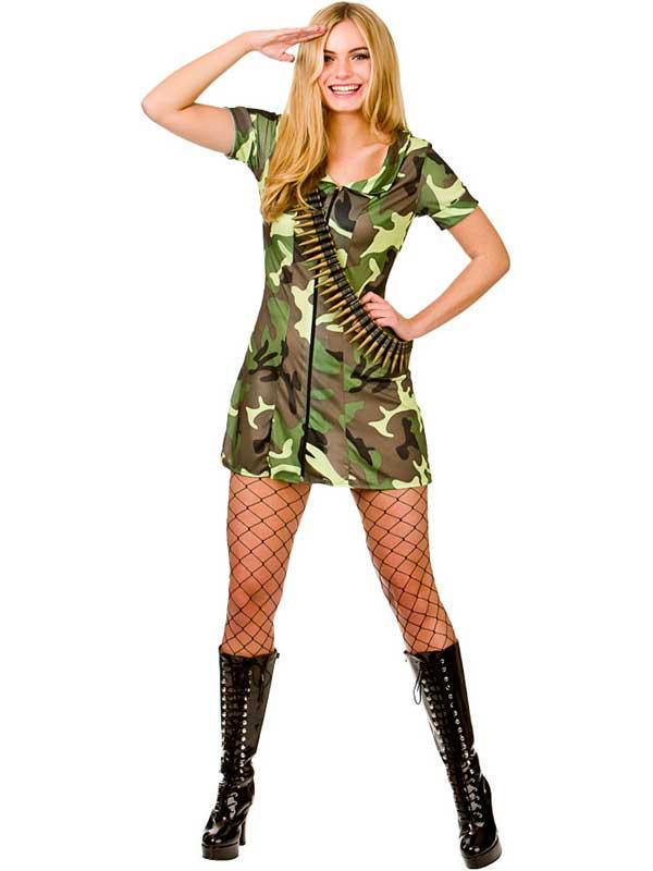 Ladies Sexy Army Girl Costume