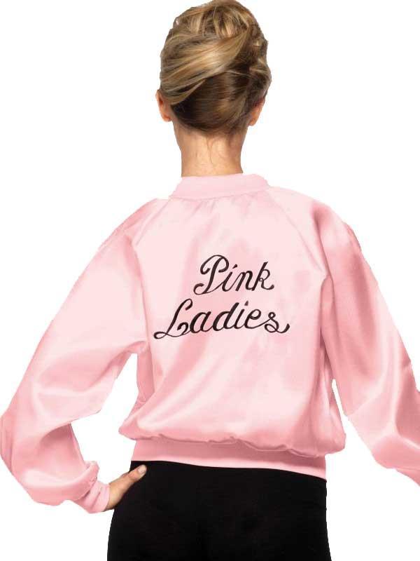 Adult GREASE Pink Ladies Jacket Thumbnail 2