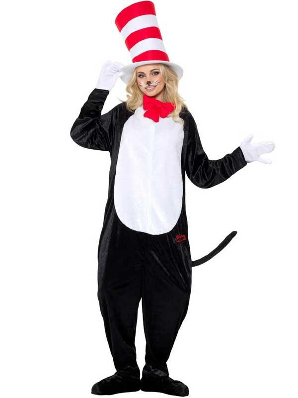 Adult Dr Seuss Cat In The Hat Costume Thumbnail 2