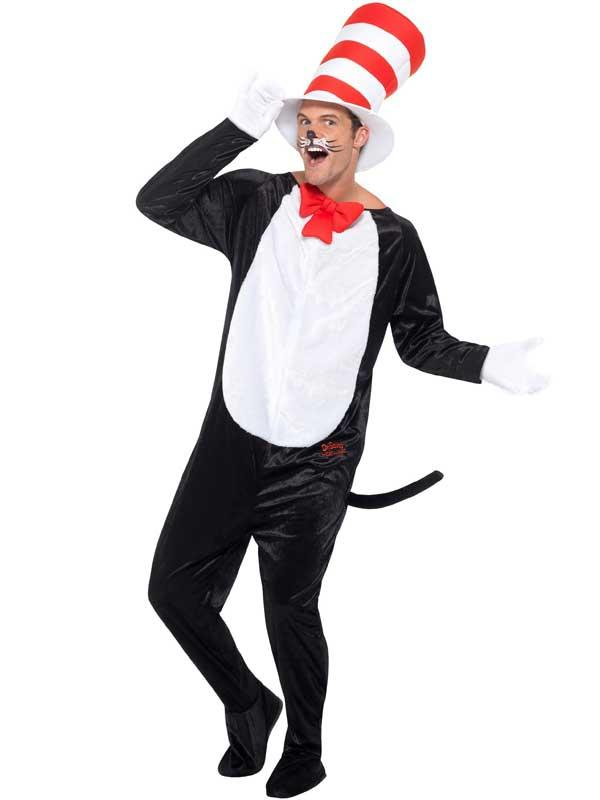 Adult Dr Seuss Cat In The Hat Costume Thumbnail 3