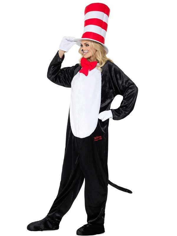 Adult Dr Seuss Cat In The Hat Costume Thumbnail 4