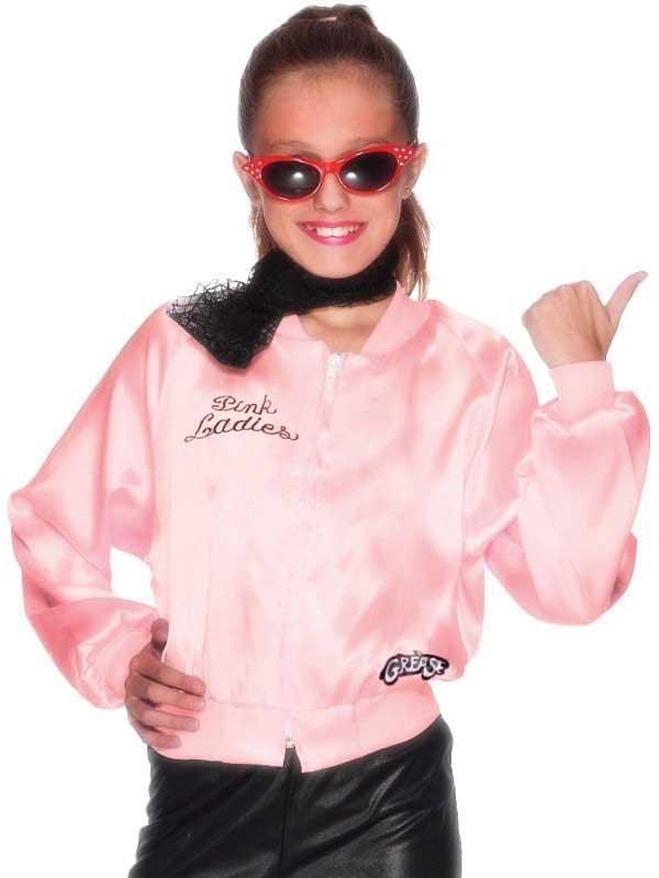 Child GREASE Pink Ladies Jacket Thumbnail 2