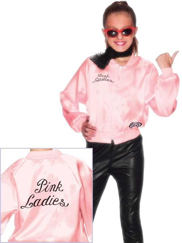 Child GREASE Pink Ladies Jacket Thumbnail 1