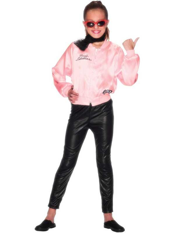 Child GREASE Pink Ladies Jacket Thumbnail 4