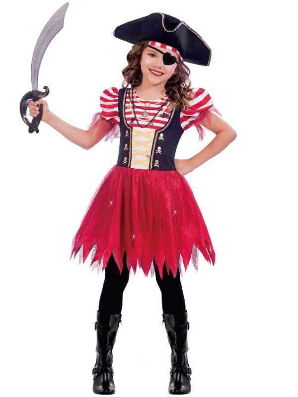 Child Girls High Seas Pirate Costume