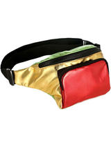 Adult Bum Bag - Red Gold & Green