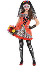Child Girls Sugar Skull Senorita Costume