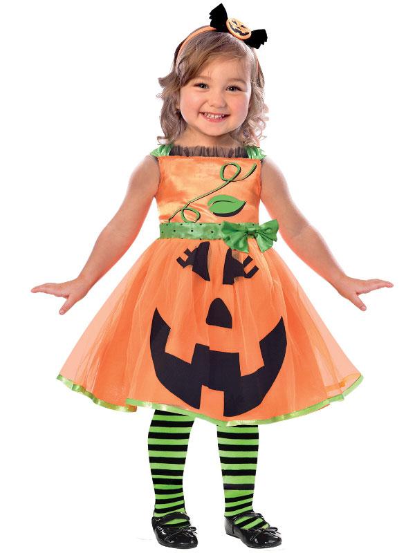 401dbca67cc Child Girls Cute Pumpkin Costume Dress
