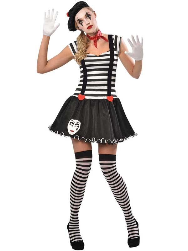 Adult Miss Mime Costume