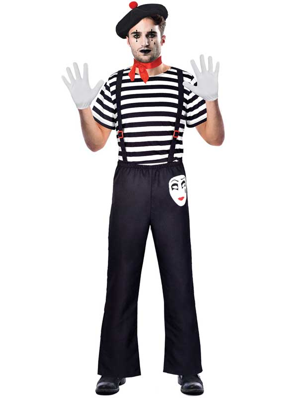 Adult Mr Mime Artist Costume