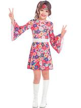 Child Girls Miss 60's Costume Dress
