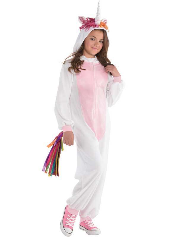 Child Girls Unicorn Zipster Costume
