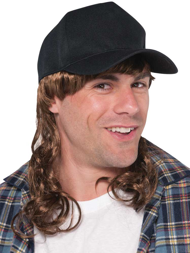 Adult Mens Trucker Mullet Hat