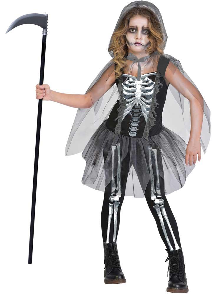 Child Skeleton Reaper Costume