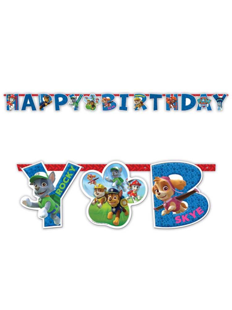 Paw Patrol Party Birthday Banner