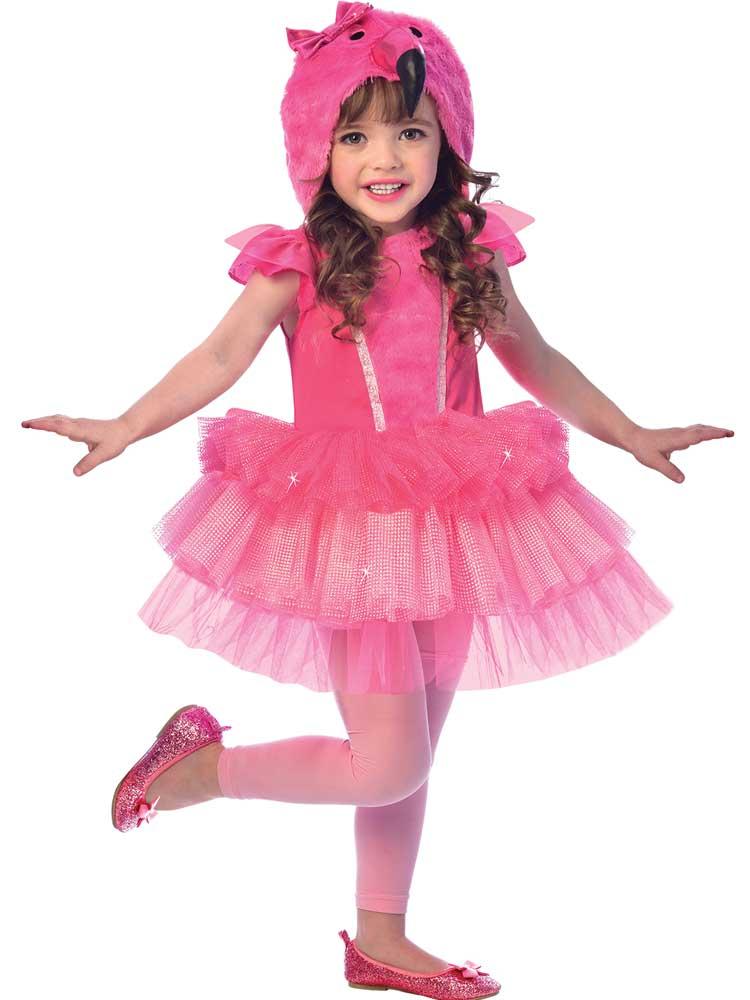 Childs Girls Flamingo Costume Dress