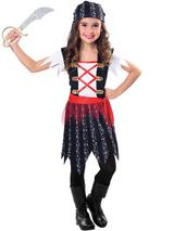 Childs Girls Pirate Cutie Costume Dress