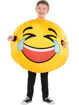 Childs Inflatable Emoji - Tears Of Laughter Costume