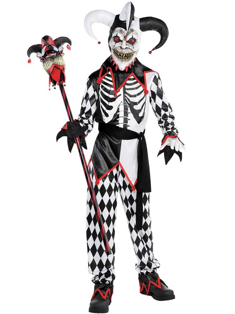 Child Boys Sinister Jester Boy Costume