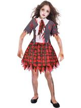 Child Girls Zombie Schoolgirl Costume