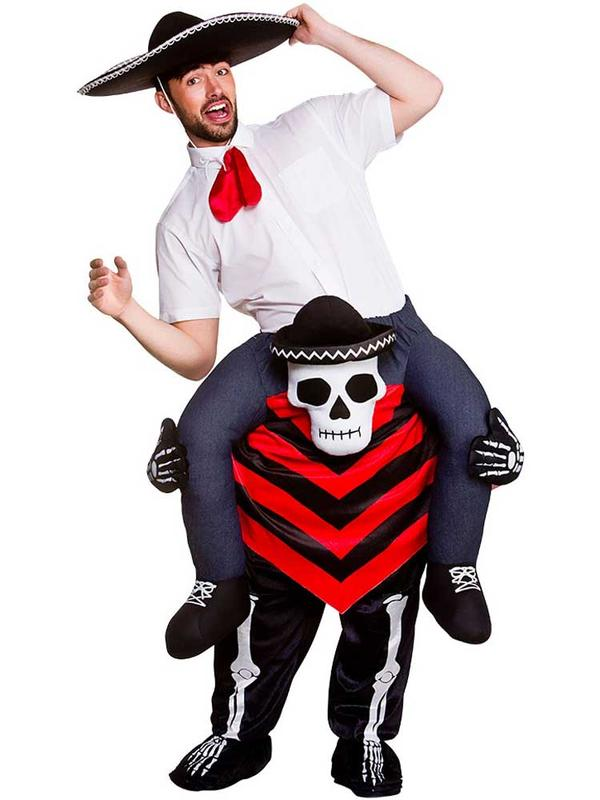 Adult Carry Me - Day Of The Dead Hombre Costume