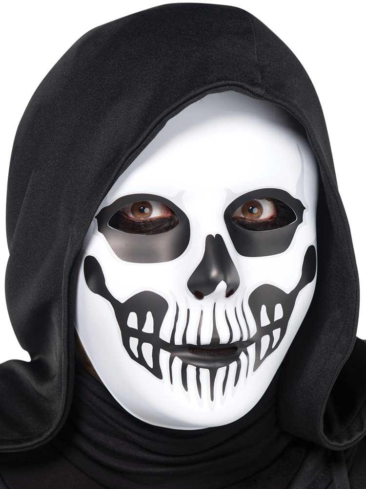 Adult Black & Bone Horror Skull Mask