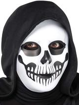 Adult Black & Bone Horror Skull Mask