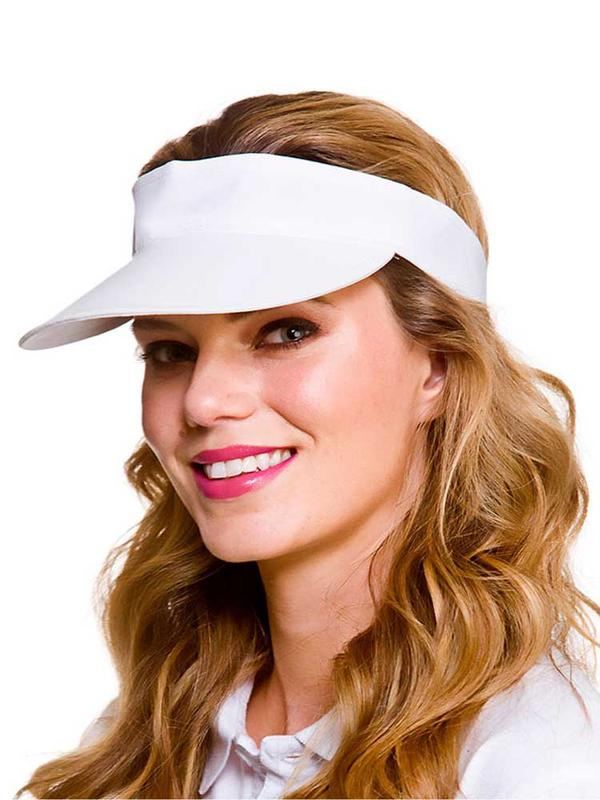 Adult Golf Visor (White) Thumbnail 1