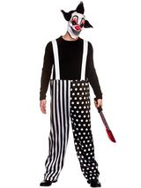 Adult Mens Sinister Clown & Mask Costume Trousers
