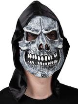 Adult Skeleton Reaper Mask With Hood