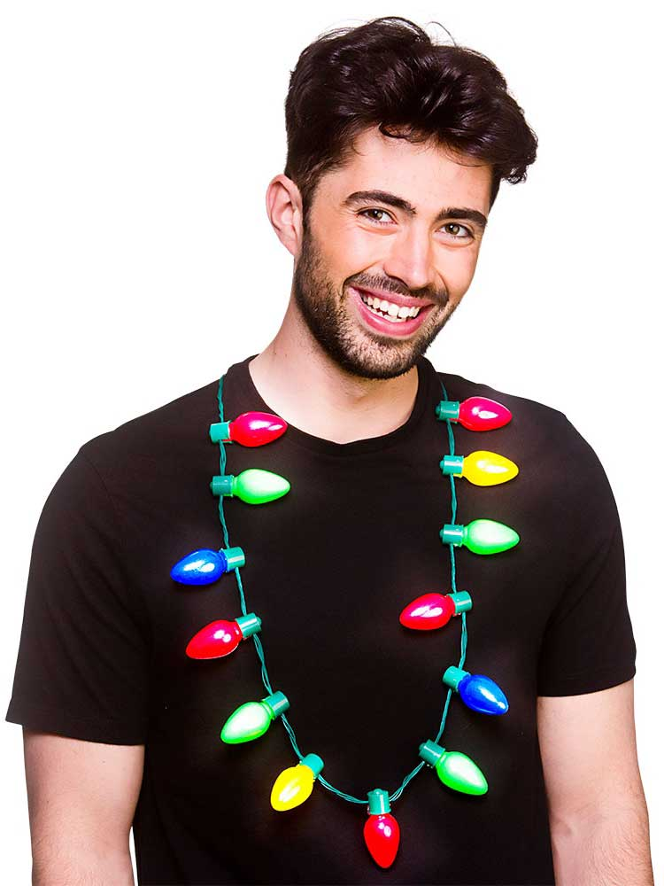 Adult Christmas Lights Necklace