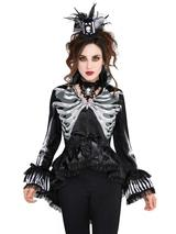 Adult Ladies Black & Bone Jacket Gothic