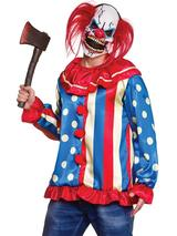 Adult Mens Krazy Killer Clown & Mask Costume