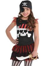 Child Girls Pirate T-Shirt Dress