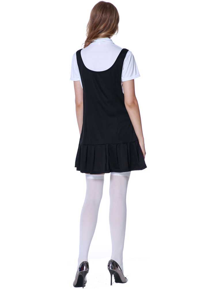 Ladies Sexy School Girl Fancy Dress Costumestockings St -6890