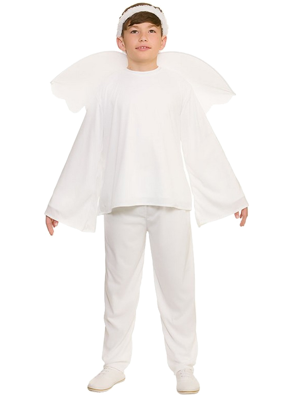 Child-White-Angel-Gabriel-Fancy-Dress-Costume-Christmas-Nativity-Kids-Outfit-New