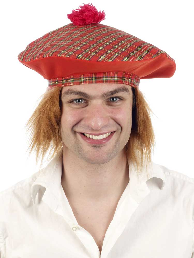 Scottish Tartan Hat With Ginger Hair