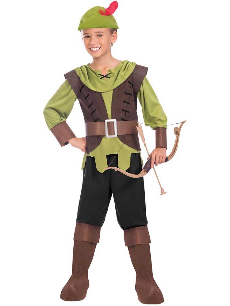 Bambino Ragazzi Teen Principe dei ladri Robin Hood Costume Libro Day Kids