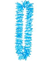 Adult Deluxe Satin Lei 9Cm Flower - Blue