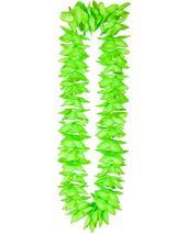Adult Deluxe Satin Lei 9Cm Flower - Green