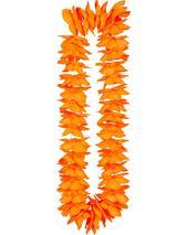 Adult Deluxe Satin Lei 9Cm Flower - Orange