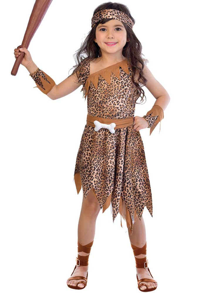 Cave Girl Child Costume Small