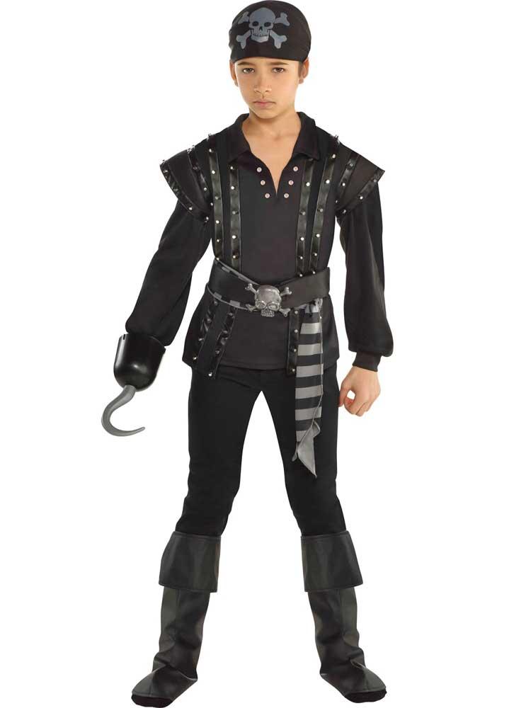 Child-Pirate-Dark-Sea-Scoundrel-Fancy-Dress-Costume-Caribbean-Buccaneer-Boys-Kid thumbnail 5