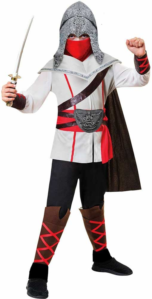 Boys Assassins Creed Ninja Party Fancy Dress Costume Samurai Warrior Child Kids Ebay
