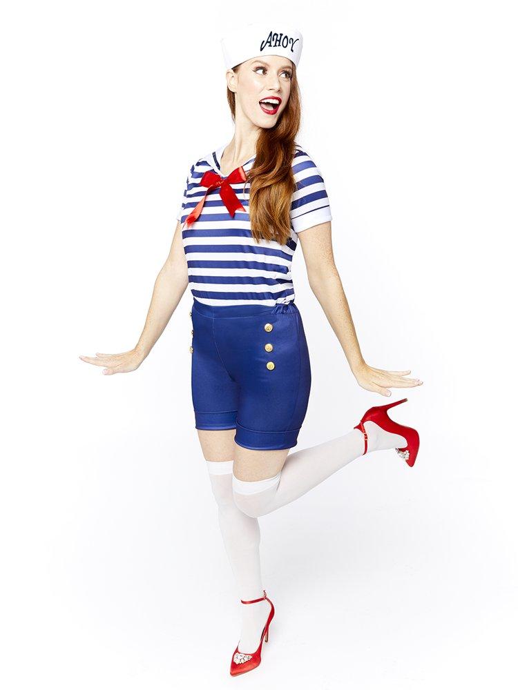 Adults-Ahoy-Sailor-Fancy-Dress-Costume-Hat-Uniform-Seas-Ladies-Womens-Military thumbnail 16
