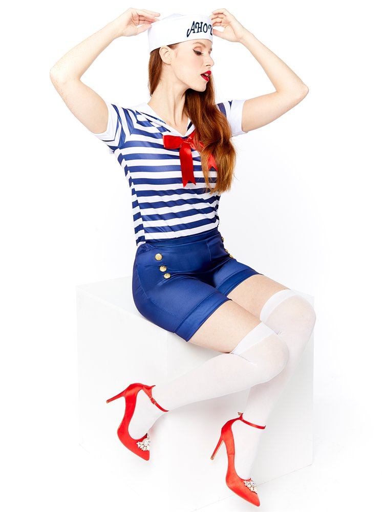 Adults-Ahoy-Sailor-Fancy-Dress-Costume-Hat-Uniform-Seas-Ladies-Womens-Military thumbnail 19
