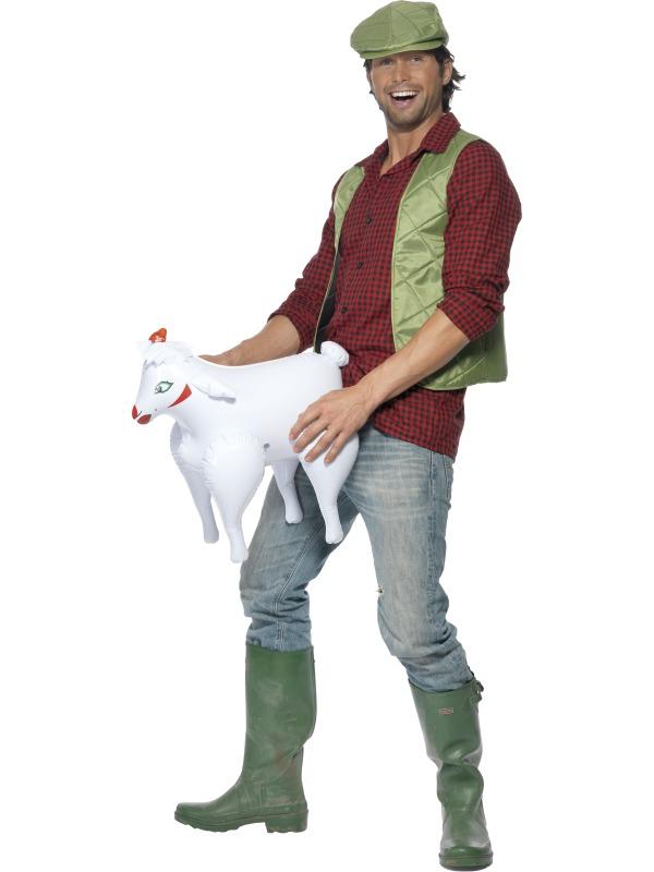 Menu0027s Farmer And Inflatable Sheep Costume  sc 1 st  Plymouth Fancy Dress & Menu0027s Farmer And Inflatable Sheep Costume | Fun u0026 Quirky ...