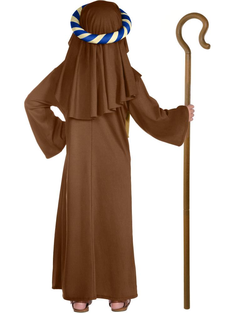 Boys Shepherd Joseph Innkeeper Christmas Nativity Costume Crook//Lamb Fancy Dress